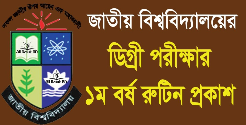 DU Degree 1st Year Exam Routine 2018