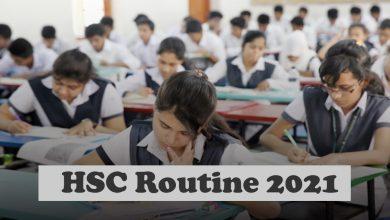 HSC Routine 2021, HSC Exam Routine 2021