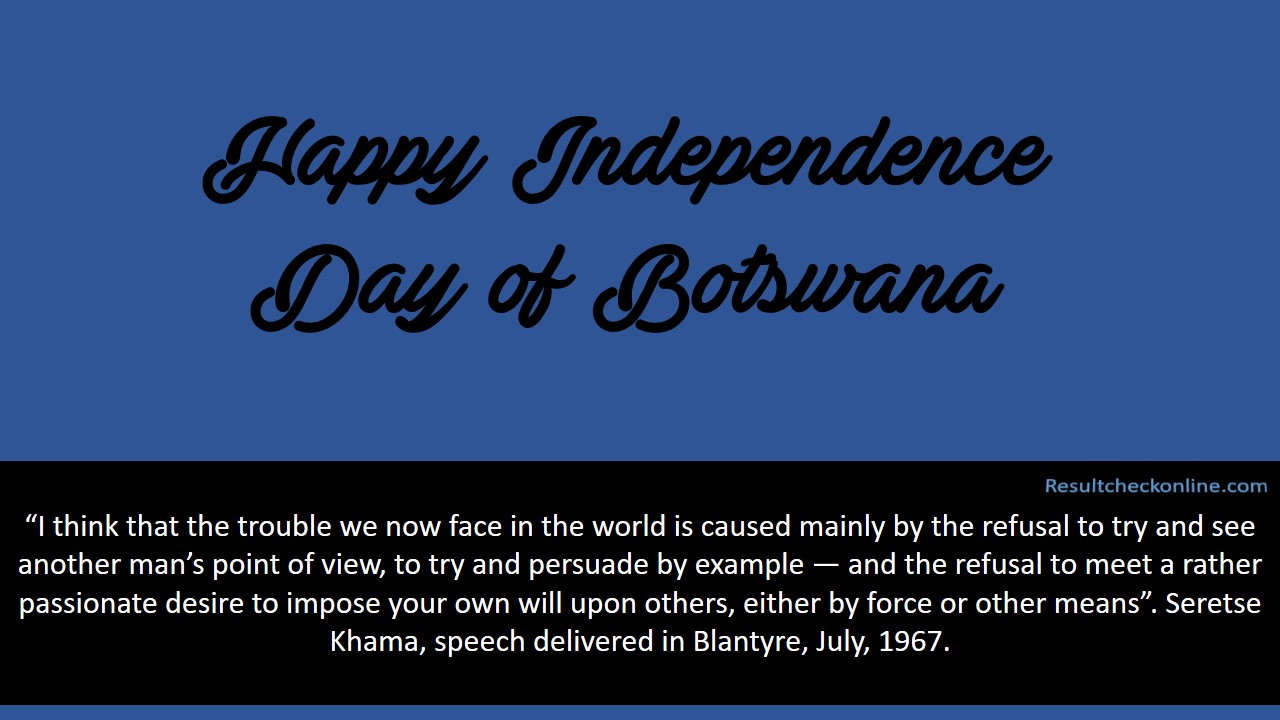 Independence Day of Botswana Pic