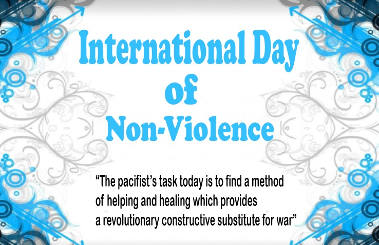 International non-violence day, Happy non-violence day, non-violence day 2019, International Non-Violence day history, quotes, poem, wishes, message, slogans