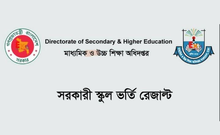 govt School Admission Result 2020, Dhaka govt School Admission Result 2020