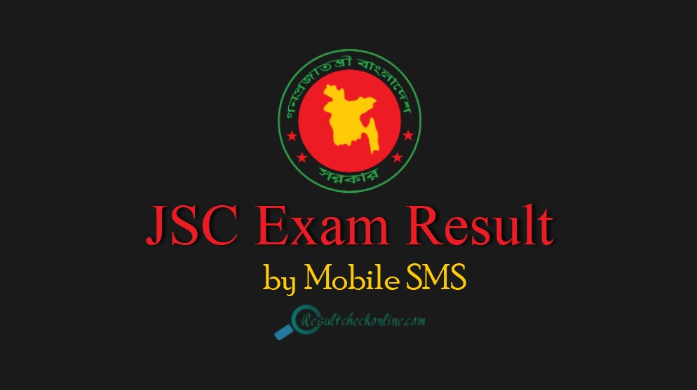 JSC Exam Result checked by mobile sms
