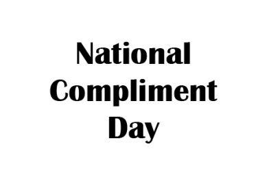 National Compliment Day, National Compliment Day 2020