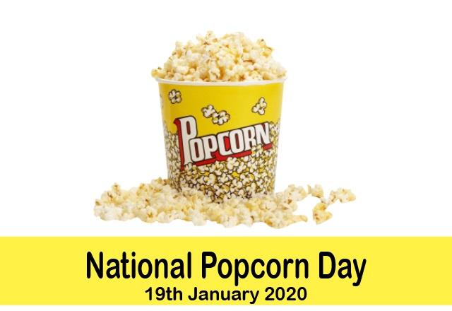 National Popcorn Day, National Popcorn Day 2020