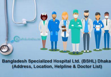 Bangladesh Specialized Hospital Internal Medicine Specialist Doctor List