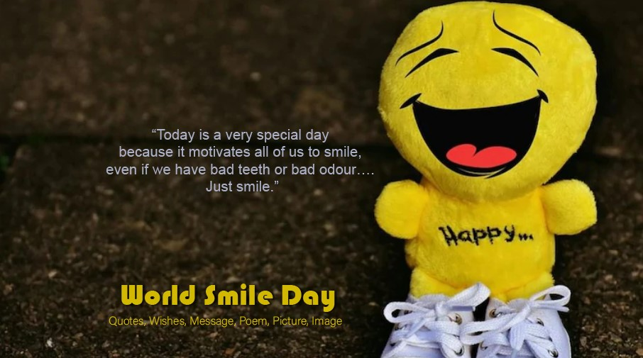 World Smile Day - Happy Smile Day 2021 Wishes, Message, SMS, Quotes.